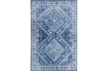 60X90 Rug-Diamond Traditional Lustre Sheen Denim