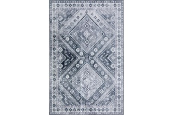 """1'7""""x2'5"""" Rug-Diamond Traditional Lustre Sheen Pewter"""