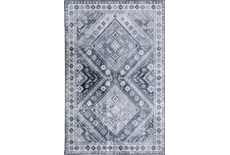 39X63 Rug-Diamond Traditional Lustre Sheen Pewter