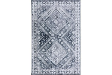 """3'3""""x5'3"""" Rug-Diamond Traditional Lustre Sheen Pewter"""