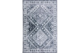 96X120 Rug-Diamond Traditional Lustre Sheen Pewter