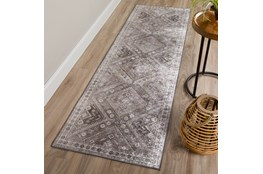 27X90 Rug-Diamond Traditional Lustre Sheen Taupe