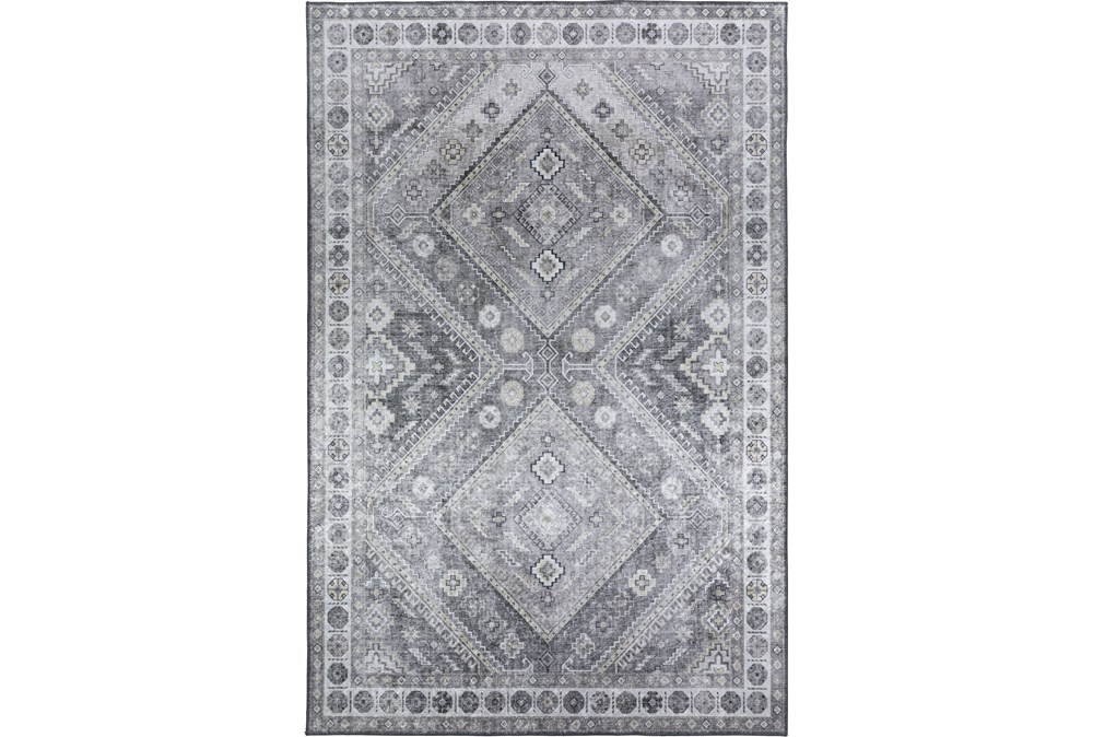 60X90 Rug-Diamond Traditional Lustre Sheen Taupe