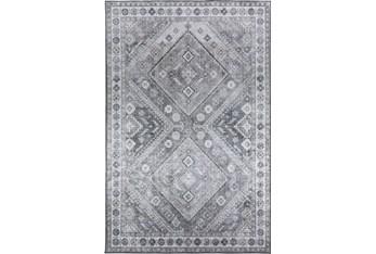 "5'x7'5"" Rug-Diamond Traditional Lustre Sheen Taupe"