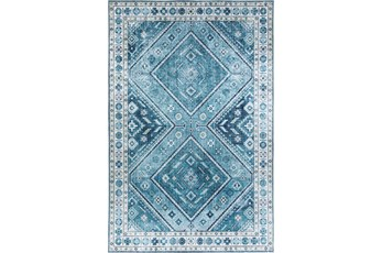 96X120 Rug-Diamond Traditional Lustre Sheen Teal