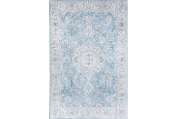 "1'7""x2'5"" Rug-Traditional Lustre Sheen Light Blue"