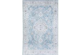 "3'3""x5'3"" Rug-Traditional Lustre Sheen Light Blue"