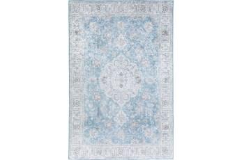 60X90 Rug-Traditional Lustre Sheen Light Blue