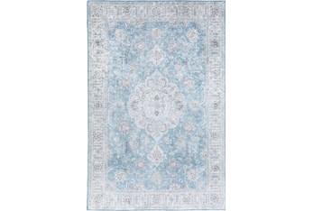 "5'x7'5"" Rug-Traditional Lustre Sheen Light Blue"