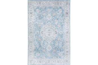 108X156 Rug-Traditional Lustre Sheen Light Blue