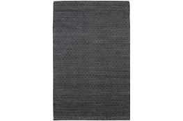 42X66  Rug-Diamond Metallic Flat Weave Black