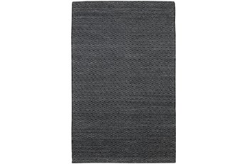 60X90  Rug-Diamond Metallic Flat Weave Black