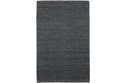 96X120  Rug-Diamond Metallic Flat Weave Black