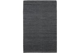 8'x10'  Rug-Diamond Metallic Flat Weave Black