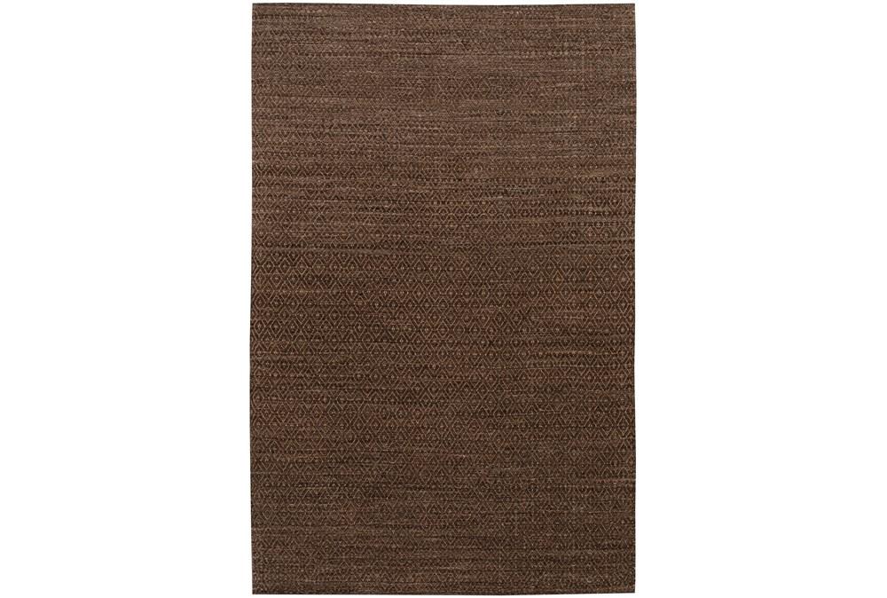 108X156 Rug-Diamond Metallic Flat Weave Chocolate