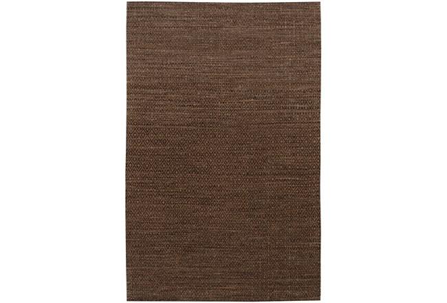 108X156 Rug-Diamond Metallic Flat Weave Chocolate - 360