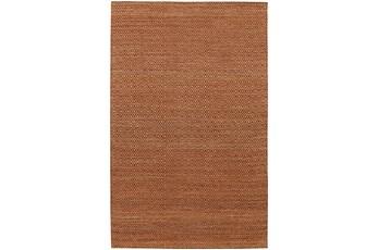 60X90 Rug-Diamond Metallic Flat Weave Copper