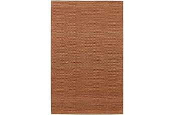 96X120 Rug-Diamond Metallic Flat Weave Copper