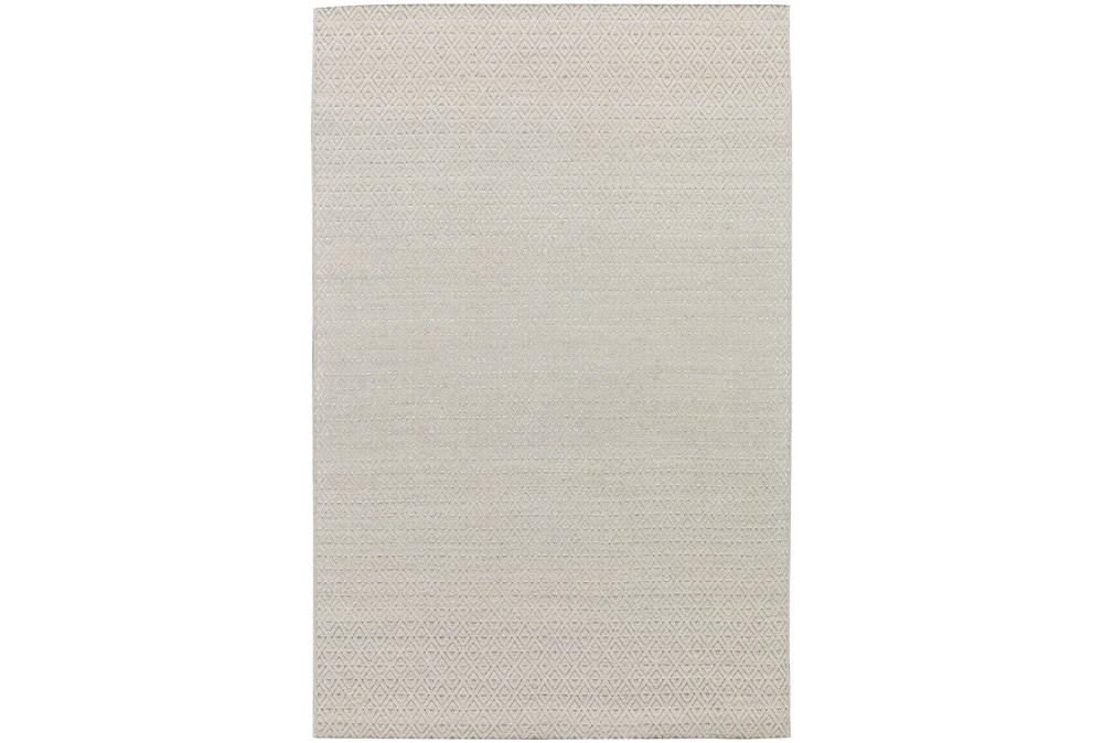 8'x10' Rug-Diamond Metallic Flat Weave Linen