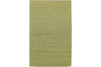 96X120 Rug-Diamond Metallic Flat Weave Lime
