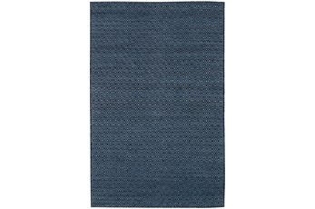 108X156 Rug-Diamond Metallic Flat Weave Navy