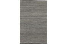 108X156 Rug-Diamond Metallic Flat Weave Pewter