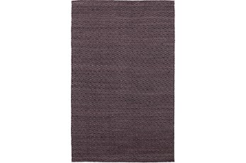 42X66 Rug-Diamond Metallic Flat Weave Plum