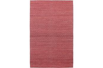 108X156 Rug-Diamond Metallic Flat Weave Pink