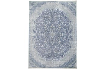 48X72 Rug-Transitional Medallion Blue/Turquoise