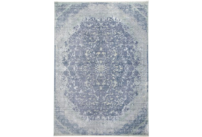 60X96 Rug-Transitional Medallion Blue/Turquoise - 360