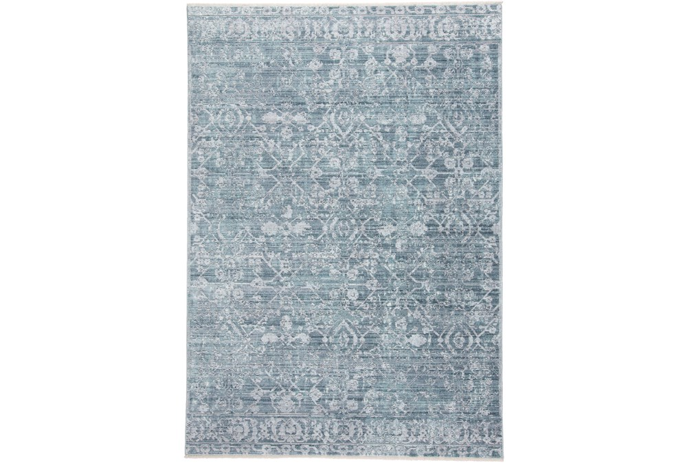 3'x5' Rug-Faded Transitional Blue/Turquoise
