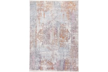 48X72 Rug-Faded Medallion Sunset