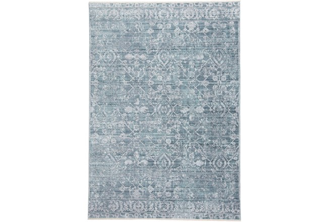 4'x6' Rug-Faded Transitional Blue/Turquoise - 360