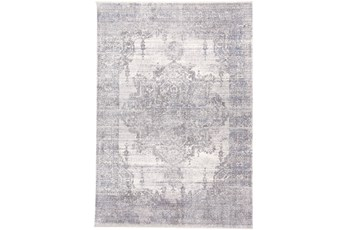 60X96 Rug-Faded Medallion Gray