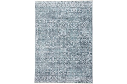 60X96 Rug-Faded Transitional Blue/Turquoise