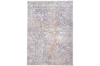 94X120 Rug- Floral Damask Sunset