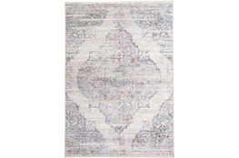 "7'8""x10' Rug-Multi Faded Medallion Cream"