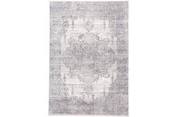 94X120 Rug-Faded Medallion Gray