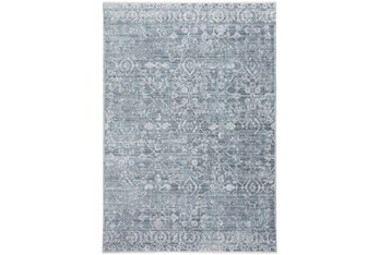 """7'8""""x10' Rug-Faded Transitional Blue/Turquoise"""