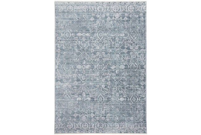 """7'8""""x10' Rug-Faded Transitional Blue/Turquoise - 360"""