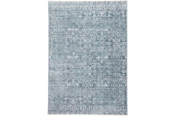 120X168 Rug-Faded Transitional Blue/Turquoise
