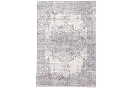 27X96 Rug-Faded Medallion Gray
