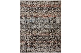 30X96 Rug-Floral Repeat Blue Rust