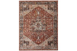 30X120 Rug-Ornate Traditional Medallion Rust