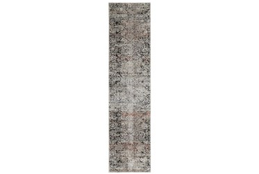 """2'5""""x12' Rug-Floral Repeat Blue Rust"""