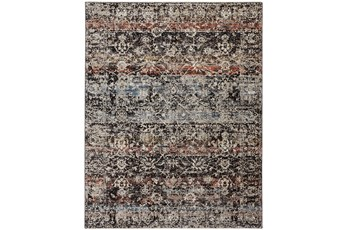 "7'8""x10' Rug-Floral Repeat Blue Rust"