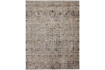 114X149 Rug-Antiqued Traditional Taupe