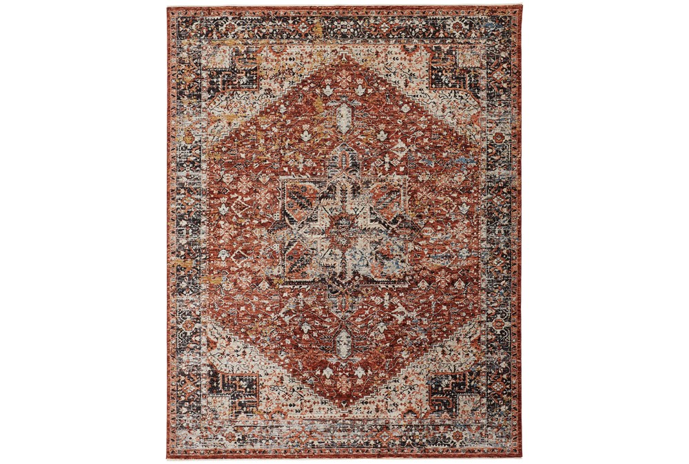 "9'5""x12'4"" Rug-Ornate Traditional Medallion Rust"