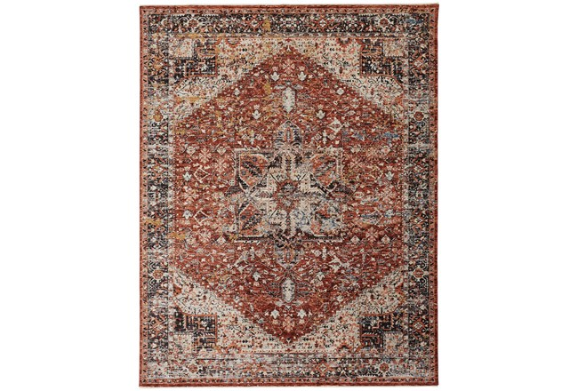 "9'5""x12'4"" Rug-Ornate Traditional Medallion Rust - 360"