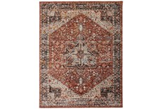 "6'6""x9'5"" Rug-Ornate Traditional Medallion Rust"